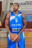 FIBA EuroChallenge : :BC Mures对Rilski Sportist 库存图片