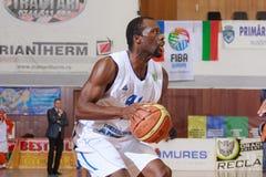 FIBA EuroChallenge : :BC Mures对Rilski Sportist 图库摄影