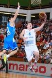 FIBA EuroChallenge : :BC Mures对Rilski Sportist 库存照片
