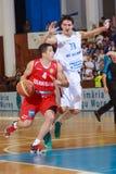 [FIBA Eurochallenge] BC Mures - Szolnoki Olaj Royalty-vrije Stock Afbeelding