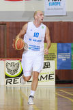 [FIBA Eurochallenge] BC Mures - Szolnoki Olaj Stock Foto's
