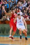 [FIBA Eurochallenge] BC Mures - Szolnoki Olaj Stock Afbeelding