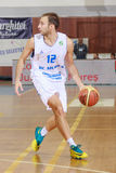 [FIBA Eurochallenge] BC Mures - Szolnoki Olaj. Ivan Jelenic drives the ball  in the first leg of Group H's 2013/2014 FIBA Euro Challenge cup game between BC Stock Photo