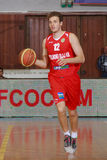 [FIBA Eurochallenge] BC Mures - Szolnoki Olaj. Miljan Rakic drives the ball upcourt in the first leg of Group H's 2013/2014 FIBA Euro Challenge cup game between Stock Images