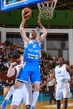 FIBA EuroChallenge:: BC Mures versus Rilski Sportist Royalty-vrije Stock Foto