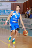 FIBA EuroChallenge:: BC Mures versus Rilski Sportist Stock Foto
