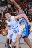 FIBA EuroChallenge:: BC Mures versus Tsmoki Minsk Stock Afbeelding