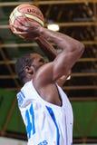 FIBA EuroChallenge :: BC Mures vs Tsmoki Minsk. Denham Brown shoots from the three point line in the FIBA Eurochallenge game between BC Mures and Tsmoki Minsk Royalty Free Stock Photography