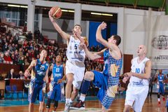 FIBA EuroChallenge :: BC Mures vs Tsmoki Minsk Royalty Free Stock Photography