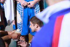 FIBA EuroChallenge :: BC Mures vs Tsmoki Minsk. Tsmoki Minsk head coach Donaldas Kairys  during a timeout in the FIBA Eurochallenge game between BC Mures and Royalty Free Stock Photo