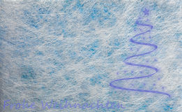 Fiber fabric and glitter film and modern christmas tree, background Royalty Free Stock Photo