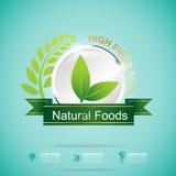 Fiber in Foods Slim Shape and Vitamin Concept Label Vector Stock Image