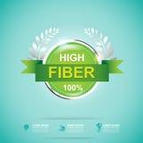 Fiber in Foods Slim Shape and Vitamin Concept Label Vector. Gradient Color vector illustration