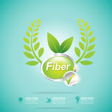 Fiber in Foods Slim Shape and Vitamin Concept Label Vector Royalty Free Stock Photography