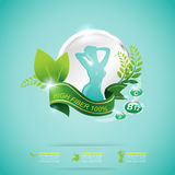 Fiber in Foods Slim Shape and Vitamin Concept Label Vector Royalty Free Stock Images