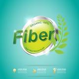 Fiber in Foods Slim Shape and Vitamin Concept Label Vector. Gradient Color royalty free illustration