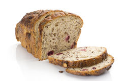 Fiber and fruit bread Stock Photo