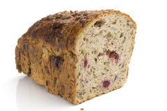 Fiber and fruit bread Stock Photos