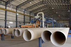 Fiber Glass Pipe Manufacturing Plant Royalty Free Stock Images