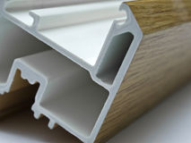 Fiber glass pultruded profile for windows Stock Photos