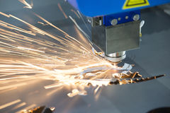 The fiber  laser cutting machine Royalty Free Stock Images
