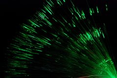 Fiber light in green and red Royalty Free Stock Photography
