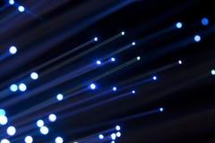 Fiber optic. Macro of blue fiber optic cables stock image