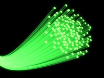 Fiber optic. 3d rendered illustration of many glas fiber cables Stock Photography