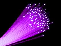Fiber optic. 3d rendered illustration of many glas fiber cables Stock Photo