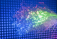 Fiber optic background Royalty Free Stock Images