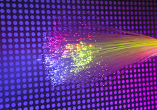 Fiber optic background Stock Photos