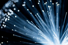 Fiber optic with blue color Royalty Free Stock Photo