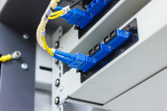 Fiber optic cable install Royalty Free Stock Photography