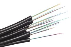 Fiber optic cables Stock Image