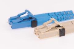 Fiber optic cables on grey background. Fiber optic cables isolated on grey background Stock Image