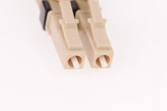 Fiber optic cables. Isolated on grey background Royalty Free Stock Photography