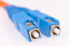 Fiber optic cables. Isolated on grey background Stock Photography