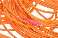 Fiber optic cables Stock Image