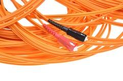 Fiber optic cables Royalty Free Stock Photos