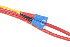 Fiber optic cables type sc Stock Image