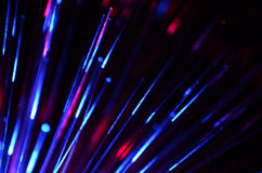 Fiber optic color light Royalty Free Stock Images