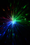 Fiber optic color light Stock Photography