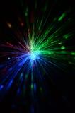 Fiber optic color light. On black Stock Photography