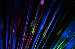 Fiber optic color light Royalty Free Stock Photos