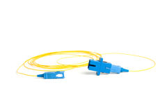 Fiber-optic connectors. Fiber connectors. fiber cable. single mode fiber Royalty Free Stock Photos