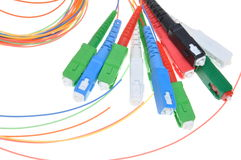 Fiber optic connectors and cables Stock Image