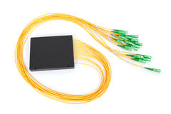 Fiber optic coupler with SC connectors Stock Photography