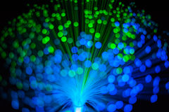 Fiber Optic dynamic flying Stock Photography