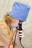 Fiber-optic endoscopy Stock Photos