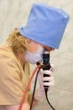 Fiber-optic endoscopy. In hospital stock photos